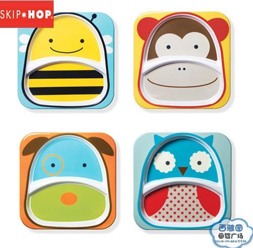 美国skip hop宝宝餐具/zoo动物仿瓷宝宝餐盘