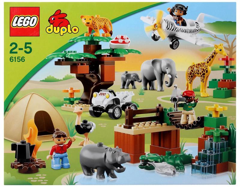 乐高lego拼装积木玩具得宝大颗粒动物园全家福 2-5岁
