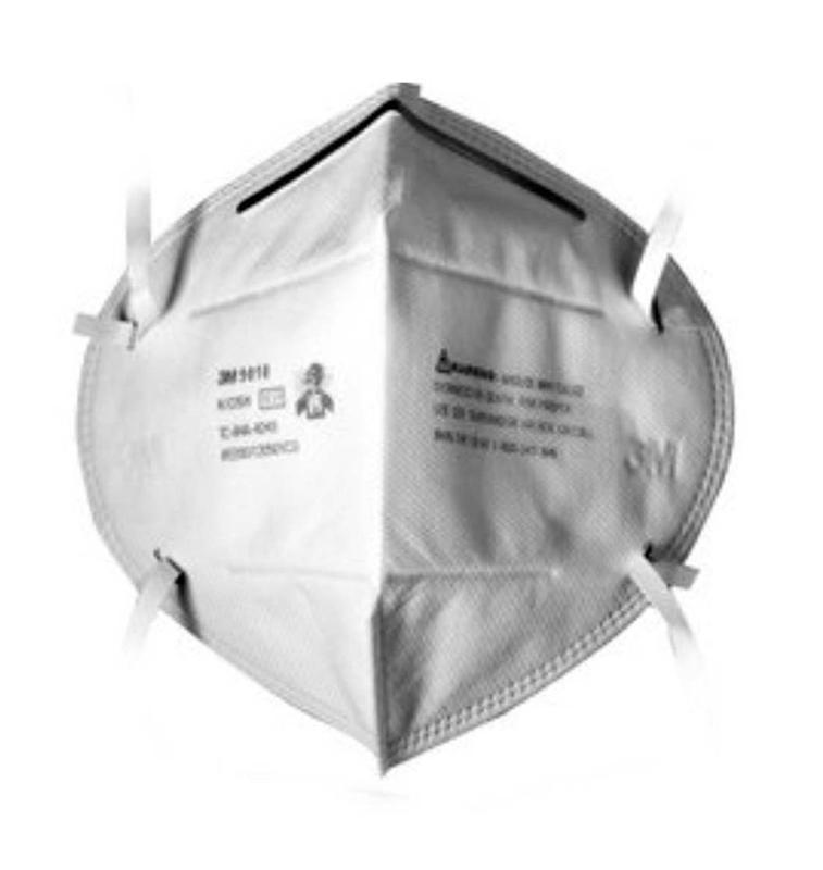 3m口罩 9010 n95 折叠式颗粒物防护口罩 防尘口罩(头戴式)20只图片