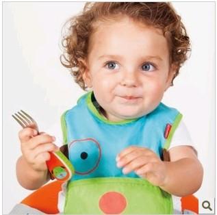 现货 美国skip hop可爱动物园不锈钢叉勺套装宝宝儿童