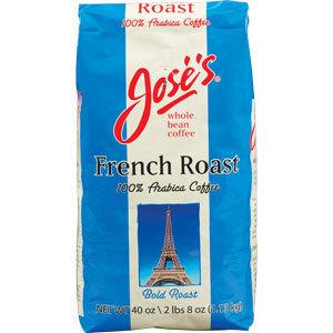免运费!包美国直邮 JOSE'S French Roast 法式焙烘咖啡豆 1130克
