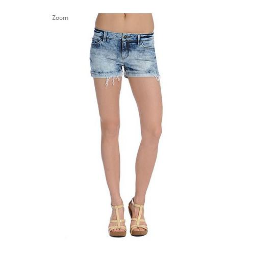 清仓特价美国正品DL1961女装牛仔短裤夏显瘦晕染卷边短裤热裤