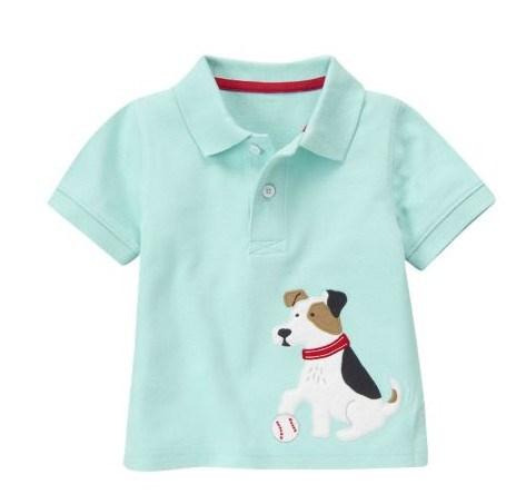 美国代购gymboree金宝贝可爱小狗男童卡通短袖