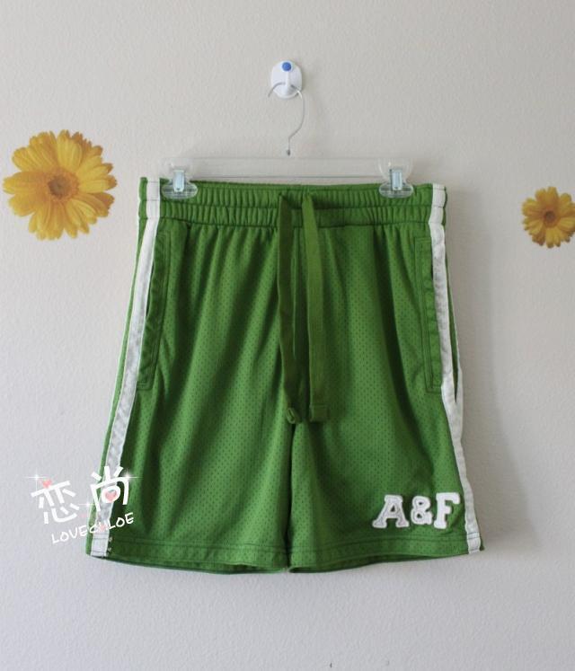 国内现货 AF 男士超舒服透气款绿色休闲系带短裤 XS