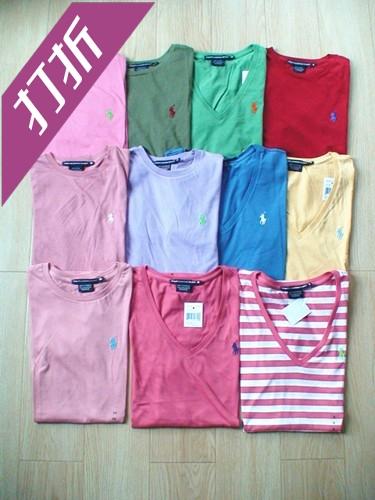 美国代购专柜正品 Polo保罗 女装基本款短袖圆领/v领T恤 多色