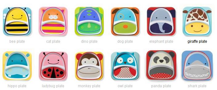动物园系列儿童餐盘套装