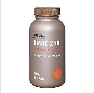美国直邮GNC补脑素DMAE250mg60粒缓解大脑疲劳增强记忆及学习能力