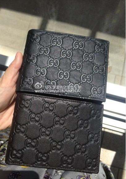 gucci 黑色gg图标短款钱包(278596)