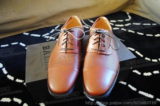 包邮 美国晓雪!BALLY系鞋带款男士皮鞋 男鞋 附鞋盒