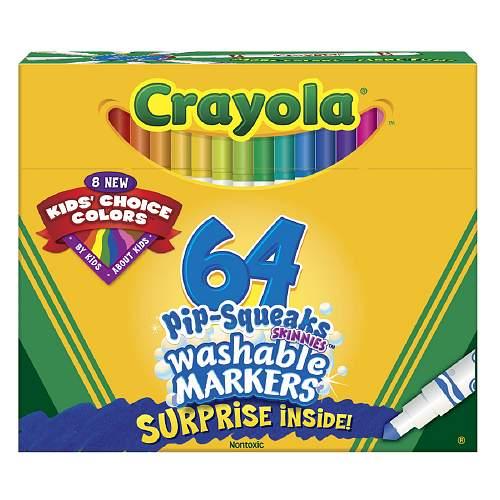 美国直邮 crayola 绘儿乐64色细杆可水洗马克笔/水彩笔
