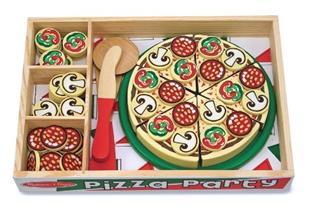 玛丽莎Melissa&Doug 木制比萨仿真pizza party 女孩益智玩具