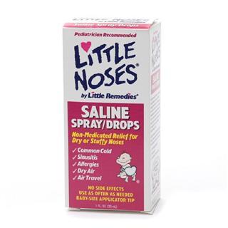 美国直邮 Little Noses盐水喷雾滴剂二合一  缓解宝宝感冒鼻塞