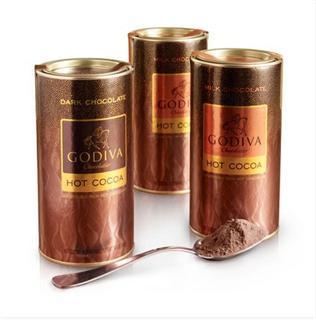 GODIVA高迪瓦 可可粉3罐经济装