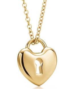 【美国正品代购】Tiffany Locks系列18K金迷你心锁项链
