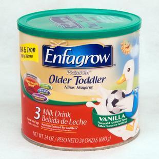 直邮 美国代购进口Enfamil美赞臣3段奶粉 幼儿奶粉3段 香草味680g