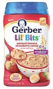 美国 GERBER 嘉宝三段燕麦米粉(香蕉草莓口味)227g/罐