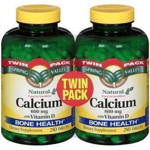 免运费!包美国直邮spring valley calcium 钙+D 250粒 买一赠一