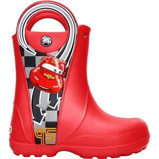 CROCS 卡洛驰 男童男宝雨鞋雨靴 汽车总动员 麦昆 红色