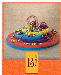 送给小珠宝设计师B.Pop-Arty Beads美国波普百变串珠500件 b.toys