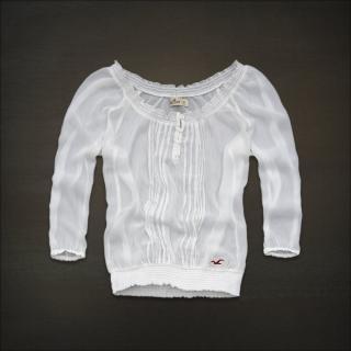 AF 姐妹版 Hollister 圆领花边小衬衫