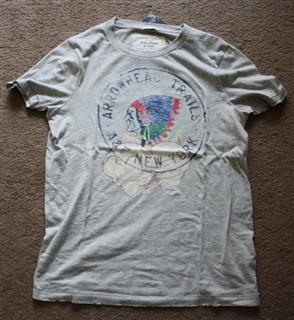 美国代购 Abercrombie Fitch T恤衫 印地安头