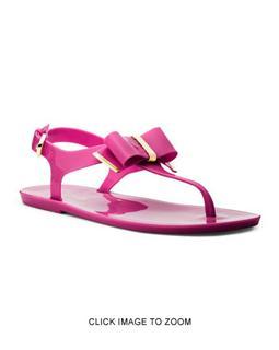 【纽约小猫美国代购】MICHAEL KORS Kayden 果冻凉鞋 紫红色