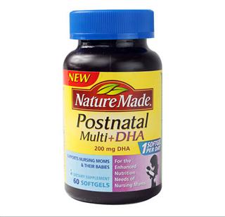 【美国直邮】Nature Made莱萃美 孕妇产后 复合维生素+DHA 60粒