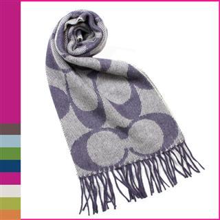 COACH女士羊毛羊绒混纺围巾