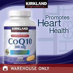 美国直邮Kirkland Signature 强效护心辅酶CoQ10  300毫克 100粒