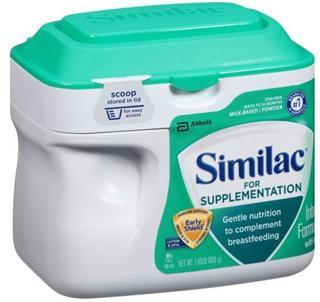 【两罐包邮价】Similac 雅培 金盾母乳外婴儿补充奶粉 658g