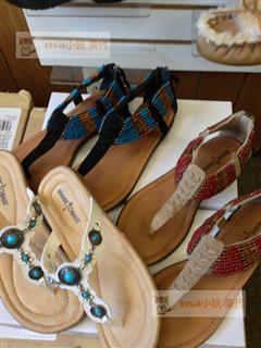 小妖-直邮 迷你唐卡Minnetonka 13新款钉珠/彩色松石凉鞋 团购