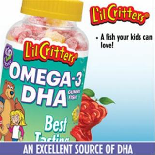 美国小熊糖omega-3 gummy fish儿童深海鱼油180粒