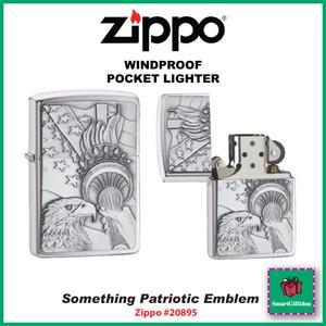 美国直邮 美国制造 Zippo芝宝打火机 纽约象征 自由火炬鹰 立体 防风