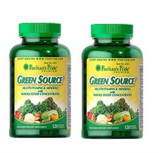 (2瓶直邮)Puritan's pride普瑞登绿源植物综合营养矿物质