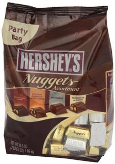 美国直邮Hershey's 好时金银砖巧克力糖果Nuggets 4个口味-超大装