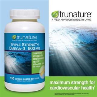 美国直邮trunature®   天然Omega-3脂肪酸 900毫克 180粒软胶囊