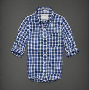 Abercrombie & Fitch A&F 男士格子长袖衬衫