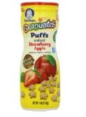 GERBER嘉宝星星泡芙42g-草莓苹果口味