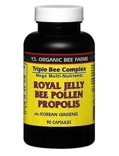 包美国直邮 美国YS y.s.天然有机蜂王浆蜂胶蜂花粉三合一 90粒