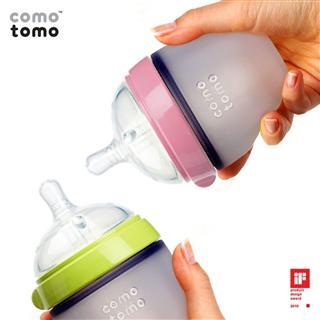 美国直邮 Comotomo 可么多么 母乳硅胶 奶瓶 250ml 粉色绿色