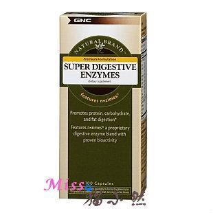 美国GNC 超级多维消化酶 改善肠胃 助消化 缓解胃胀腹泻 100粒