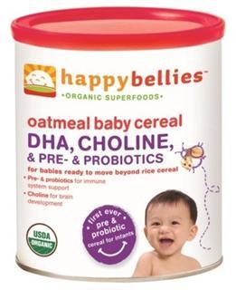 美国 Happy Baby 有机燕麦婴儿2段米粉(添加DHA和益生菌)