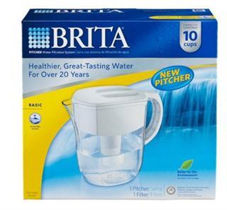 免运费!包美国直邮 BRITA滤水壶 碧然德过滤水壶10杯装 提供小票