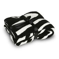 美国包邮!Barefoot DREAM 斑马毛毯超柔软温暖 竹碳纤维
