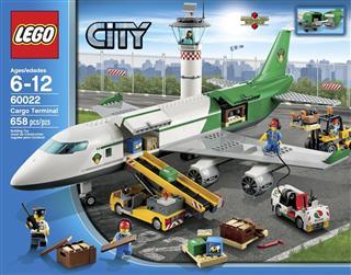乐高积木 lego城市系列飞机航空货运中心货运