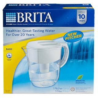 美国原装代购德国brita碧然德手提式滤水壶5或10杯容量(带滤芯)