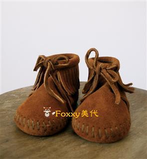 Foxxy 美代 Minnetonka迷你唐卡FRINGE BOOTIE 软底童鞋