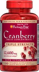 (5瓶)普瑞登Puritan's Pride蔓越莓12600mg消除妇科炎症13791