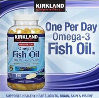 美国 Kirkland 高浓度顶级深海鱼油(1200mg)胶囊 180粒/瓶