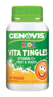 CENOVIS 儿童复合维生素咀嚼片草莓/橙子口味(2岁以上)